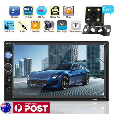 7 Inch Bluetooth Touch Screen MP5 2 Din Car Stereo Radio + Car Reversing Camera