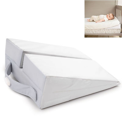 New Summer Infant White Good Vibes Cot Wedge Baby Pillow