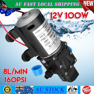 100W 12V Water Pump High Pressure Self Priming 160Psi 8L/min Car Boat Camping
