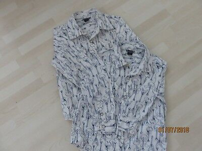 BABY GAP 2 Boy's Guitar Patterned Shirts Age 2 & 3 Years Stud Fastenings