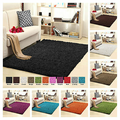 Thick Modern Large Shaggy Carpets High Quality Non-Shed Small Area Rug & Runners