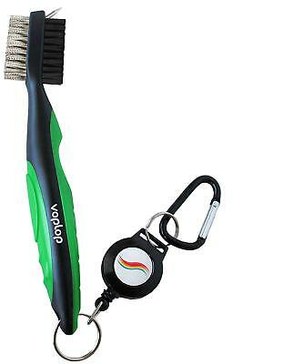 Voplop Golf Brush And Club Groove Cleaner - Easily Attaches To Golf Bag - Deep C