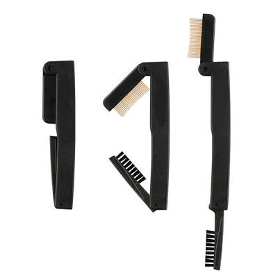 Foldable Brow Comb Eyelash Brush  Eyebrow Beauty Tool Stainless Steel TL