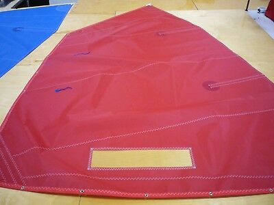Optimist sailboat dinghy TRAINING Sail Red, complete with battens, tell tails