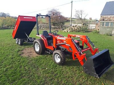Massey Ferguson 1235 With Loader + Tipping Trailer