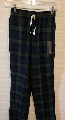 Boys Flannel Pajama Pants Blue/Green Plaid Size XL 14-16 NEW Cotton