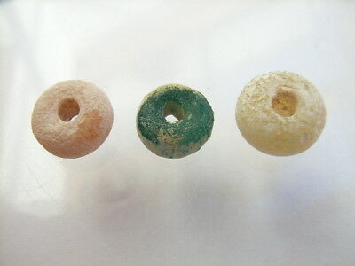 3 Ancient Roman Glass Beads, Romans VERY RARE!  TOP!