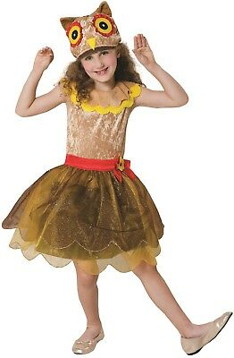 Girls Hooty Owl Animal Nature Bird World Book Day Fancy Dress Costume Outfit