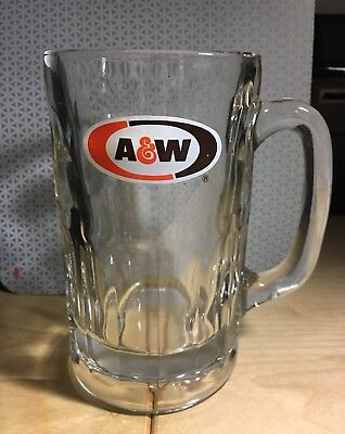 "A & W  - Large 12Oz Heavy Glass Vintage 6"" Root Beer Mug"