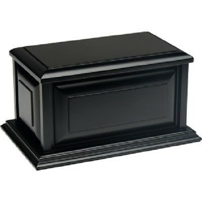 Large/Adult 210 Cubic Inch Colonial MDF Wooden Funeral Cremation Urn - Black