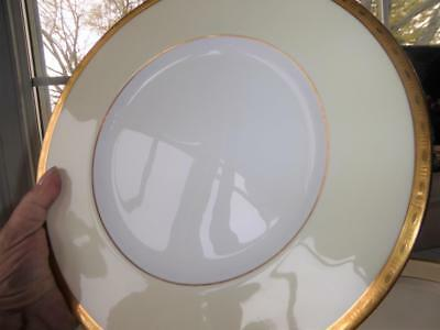 """Minton English Bone China Gold Encrusted Dinner Plates 10 1/4"""" Set 12 Excellent"""