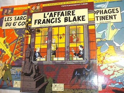 Les Aventures De Blake Et Mortimer - 3 Belgian Cartoon Strip HB Books