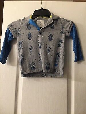 Mini Boden Bug Twofer Shirt Top 3-4 Years