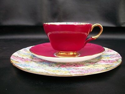 "Shelley Rock Garden Chintz ""trio""  Cup, Saucer And  8"" Plate"