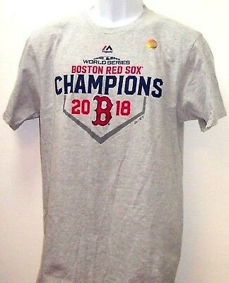 """Boston Red Sox Majestic 2018 World Series Champions """"Save"""" Tee Adult Large"""