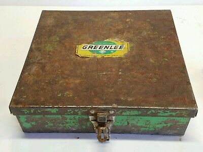 vintage Greenlee punch set 2 1/2 to 4 inches in metal case C 500-4654 C 500-4655