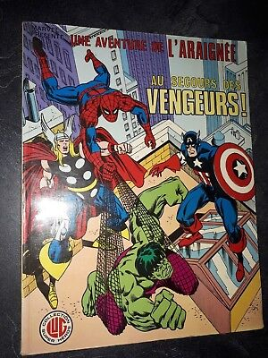 BD Comics Spiderman Au secours des vengeurs collection LUG Super Heros 1980