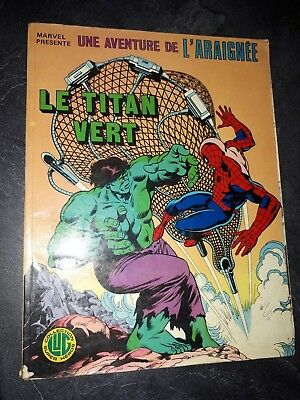 BD Comics Spiderman Le Titan vert Hulk collection LUG Super Heros 1979