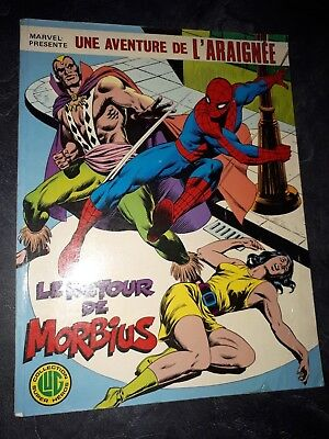 BD Comics Spiderman Le retour de Morbius collection LUG Super Heros 1978