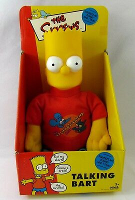 Talking Bart 1998 Vivid Imaginations 14 Inch Plush Doll New in Box The Simpsons