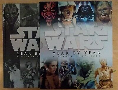 Star Wars Year by Year: A Visual Chronicle HARD COVER w/ slipcover & 2 prints