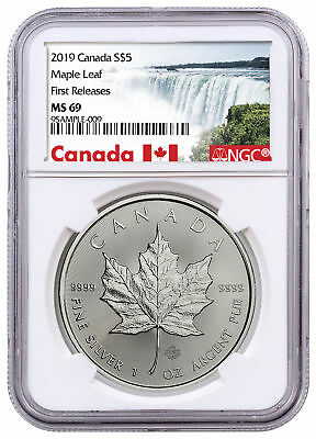 2019 Canada 1 oz. Silver Maple Leaf $5 NGC MS69 FR Exclusive Label SKU55711