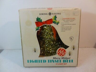 GE General Electric Merry Midget Lighted Tinsel Bell in Original Box