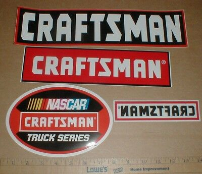 4 Sears Craftsman NASCAR racing Contingency Sticker Decal NEW Truck Series Lot