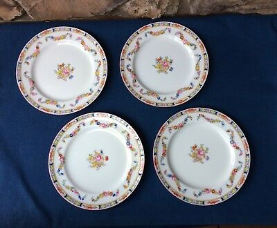 """4 Older Minton's Minton Rose 8-7/8"""" Luncheon/lunch Plate(S)-England"""