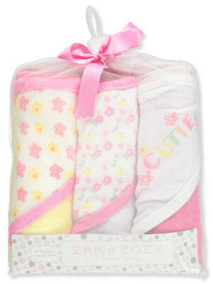 Zak & Zoey 3-Pack Hooded Towels