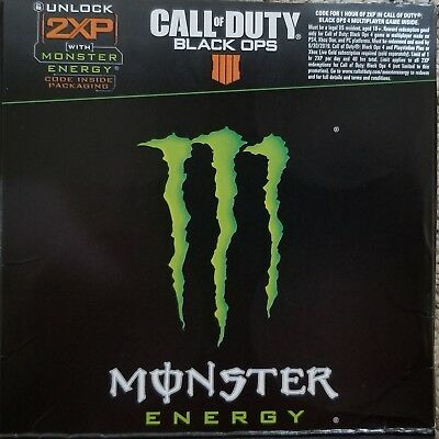 Monster Energy CALL OF DUTY BLACK OPS 4 2XP Code Best Price With Free Shipping!