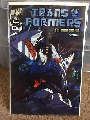 Transformers Dreamwave War Within #0 Preview Vf/nm G1 Generation One