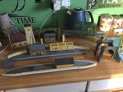 oo Gauge Job Lot Of Hornby Station,Platforms, Girder Bridge & Church Etc