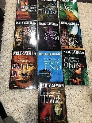 The Sandman Graphic Novels Complete Volumes 1-10 Rare Editions Near Mint