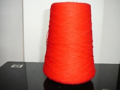 250g VINTAGE CONE OF 2/36 YARN COLOUR STRAWBERRY