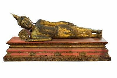 Large Vintage South East Asian Reclining Buddha