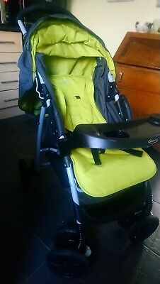 Graco Evo Lime Pushchairs Single Seat Stroller complete travel system