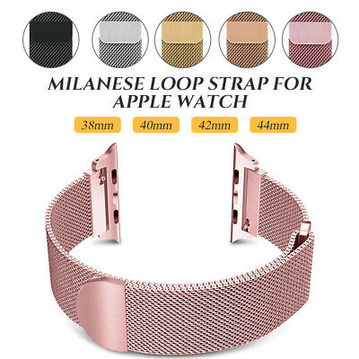 Big Sale!! Milanese Loop Strap Watch Band For Apple Watch Series 4 40MM/44MM UK