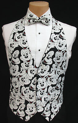 164314d3c04e Men's Mickey Mouse Tuxedo Vest and Matching Bow Tie Walt Disney Wedding  Cruise