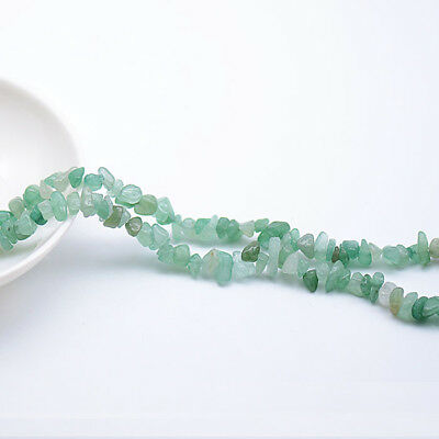 1 Strand 15'L Green Jade Crystal Chips Gemstone Beads