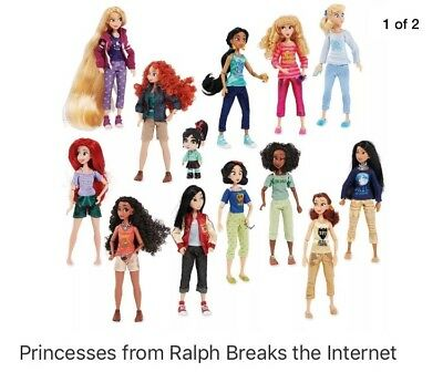 Ralph Breaks The Internet Disney Princesses - Complete Set With Vanellope
