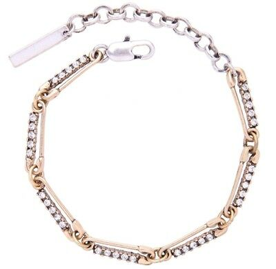 DESIGNER SAFETY BABY PIN Diamante Crystal Rhinestone Silver Gold Bracelet Anklet
