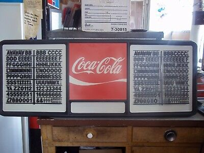 4ft Coca-Cola Menu Board Sign w/2 sets of coke black letters & numbers