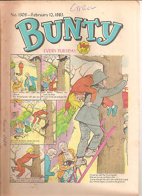 BUNTY No.1309,FEB.12,1983 D.C.THOMSON PUBLICATION with WEETABIX AD.BACK PAGE