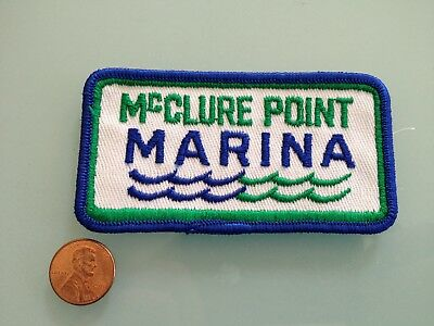 Vintage MCCLURE POINT MARINA sew on PATCH unused RARE Hornitos, CA Lake McClure