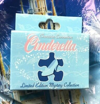 Disney Cinderella Character Connection Mystery Puzzle Pin Box With One LE Pin
