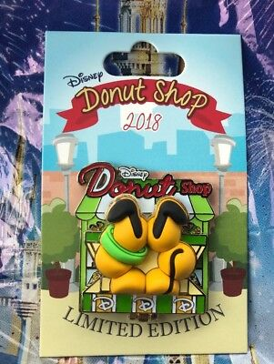 Disney Donut Shop Pluto Pin LE 3000 November Pin Of The Month New