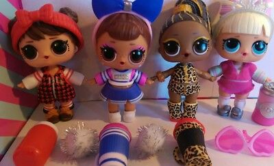 Lol surprise lot of 4. BABE IN THE WOODS, FIERCE, SIS CHEER & SUITE PRINCESS.