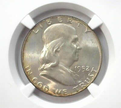1952 Franklin Silver 50 Cents -Full Bell Line- Ngc Ms65 Looks 67 Lists For $105!