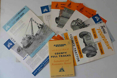 Original 1956 Fordson Major County Crawler Manual Price List Sales Brochures etc